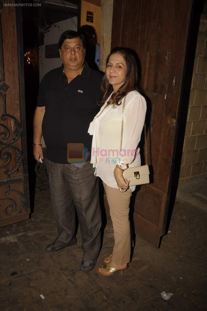 David Dhawan at Anil Kapoor's birthday bash in Juhu, Mumbai on 24th Dec 2011