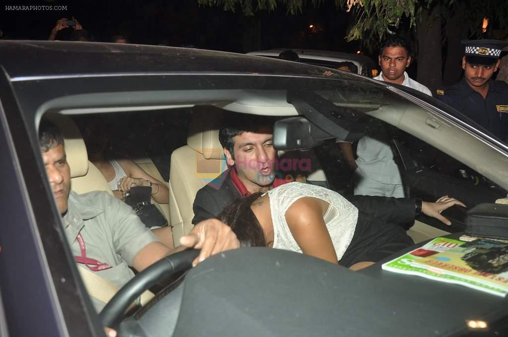 at Jacky Bhagnani's birthday bash in Juhu, Mumbai on 24th Dec 2011