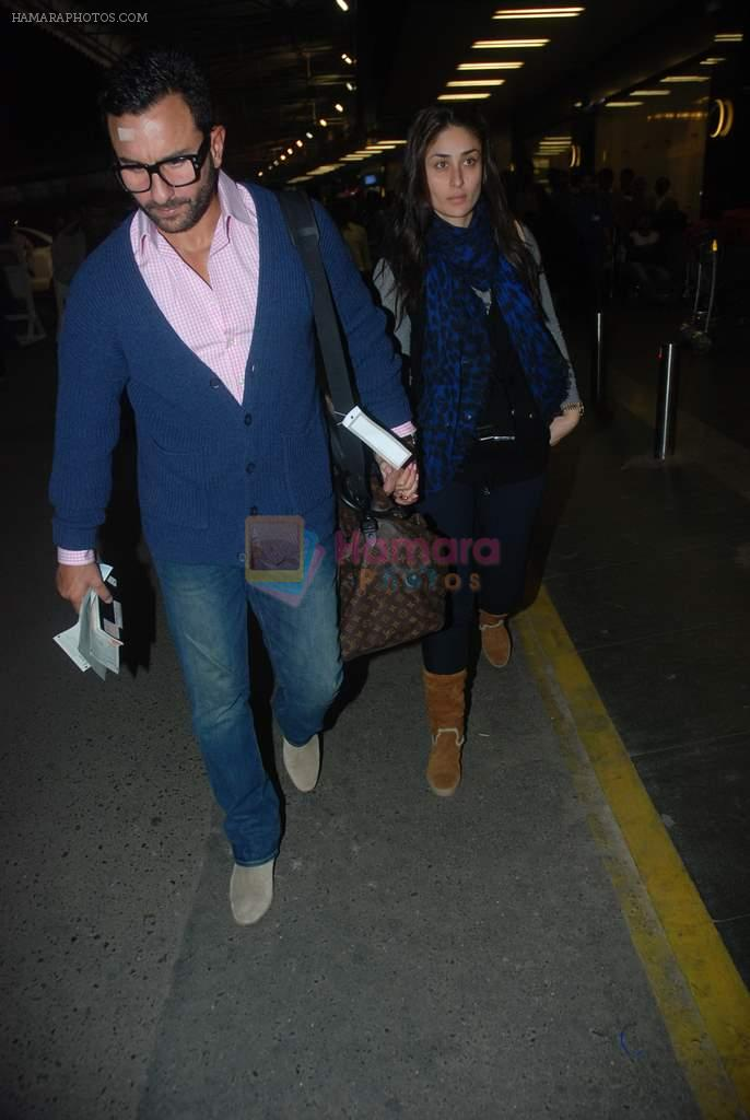 Saif Ali Khan, Kareena Kapoor off for a vacation in Airport on 25th Dec 2011