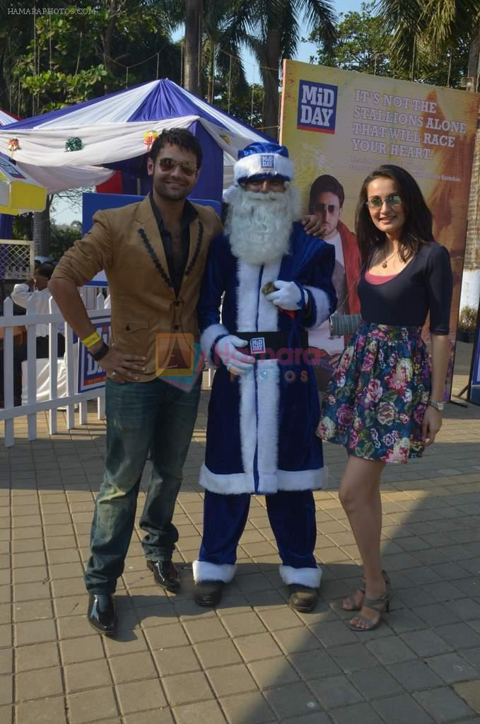 Mahakshay Chakraborty, Vaishali Desai at Mid-Day Race in RWITC, Mahalaxmi on 25th Dec 2011