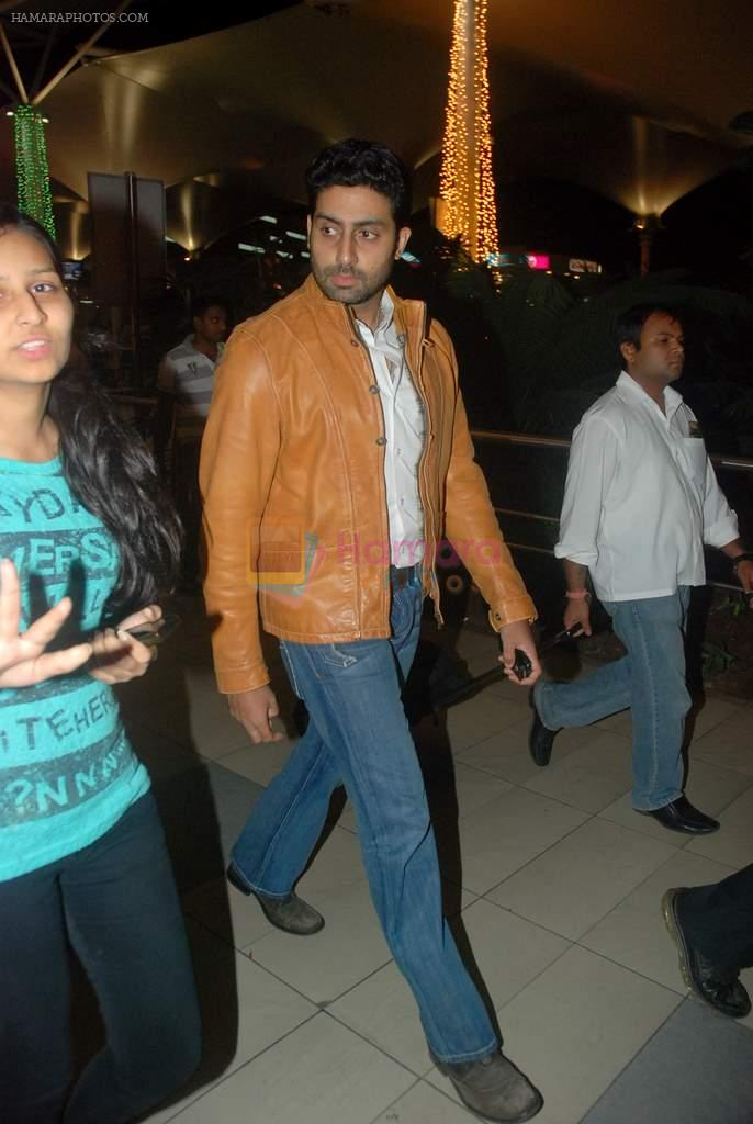 Abhishek Bachchan snapped at the domestic airport on 26th Dec 2011