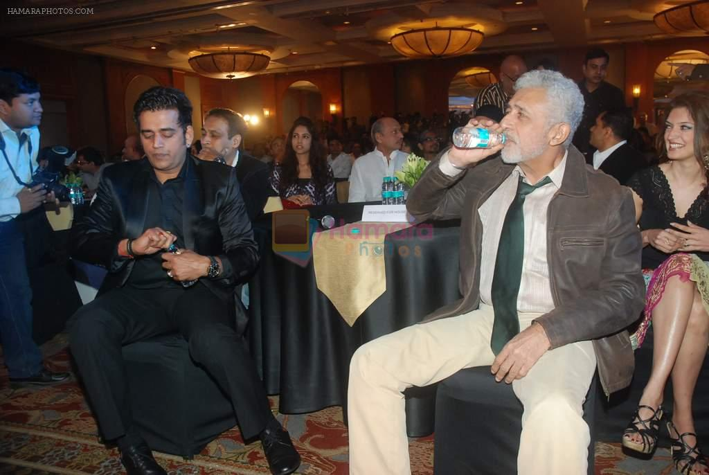 Naseeruddin Shah, Ravi Kishan at Chaalis Chaurasi music launch in J W Marriott on 28th Dec 2011