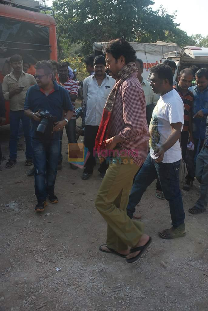 Irrfan Khan on location of film Pranam Walkum in Filmcity, Mumbai on 29th Dec 2011