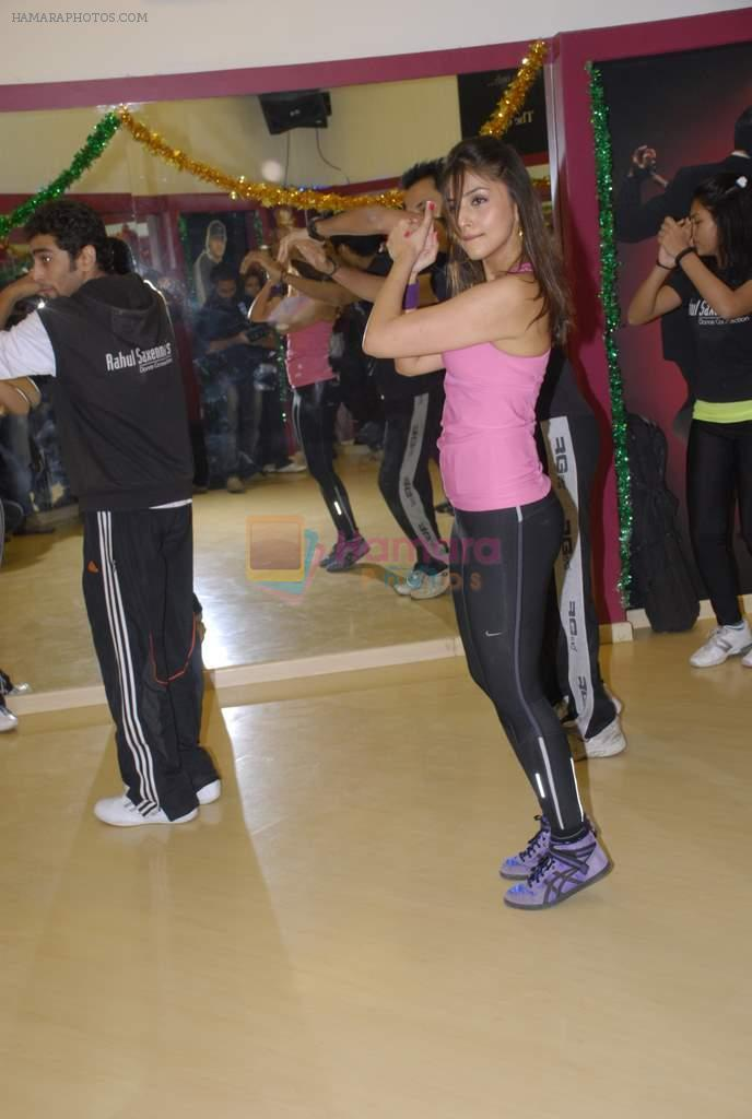 Aarti Chhabria practises for New Year's bash in Andheri, Mumbai on 29th Dec 2011