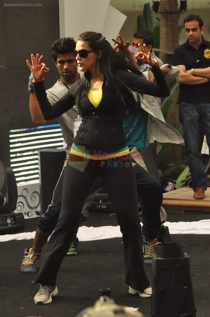 Neha Dhupia practice for Sahara Star Seduction in Sahara Star on 30th Dec 2011
