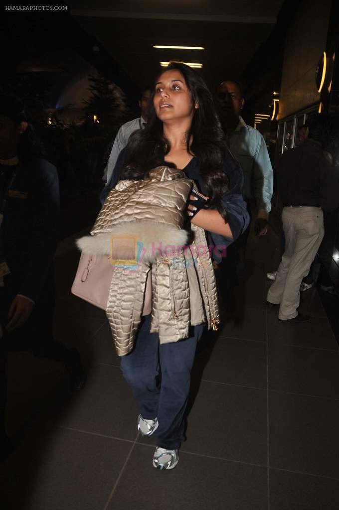 Rani Mukherjee returns from their vacation on 2nd Jan 2012