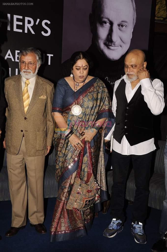pritish nandy, Kiron Kher at Anupam Kher's book launch in Le Sutra on 3rd Jan 2012