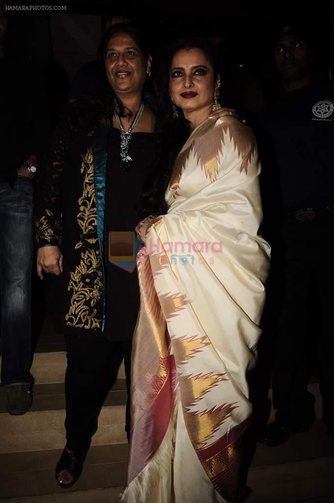 Rekha at Mangiamo restaurant launch in Bandra, Mumbai on 3rd Jan 2012