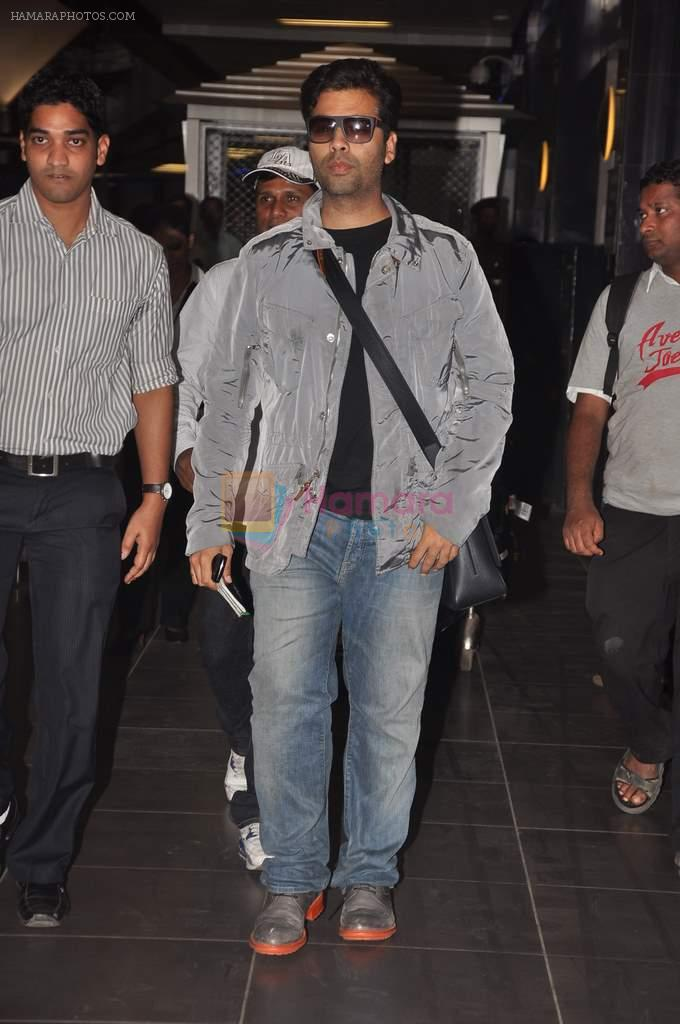 Karan Johar return from Dubai on 3rd Jan 2012