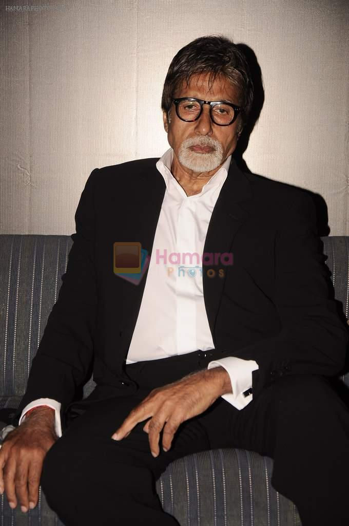 Amitabh Bachchan at Anupam Kher's book launch in Le Sutra on 3rd Jan 2012