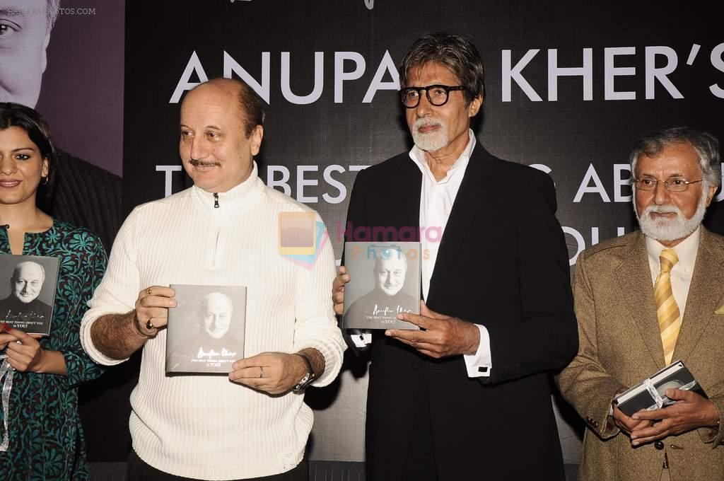 Amitabh Bachchan, Anupam Kher at Anupam Kher's book launch in Le Sutra on 3rd Jan 2012