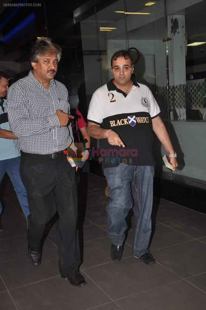 snapped at the airport in Mumbai on 4th Jan 2012