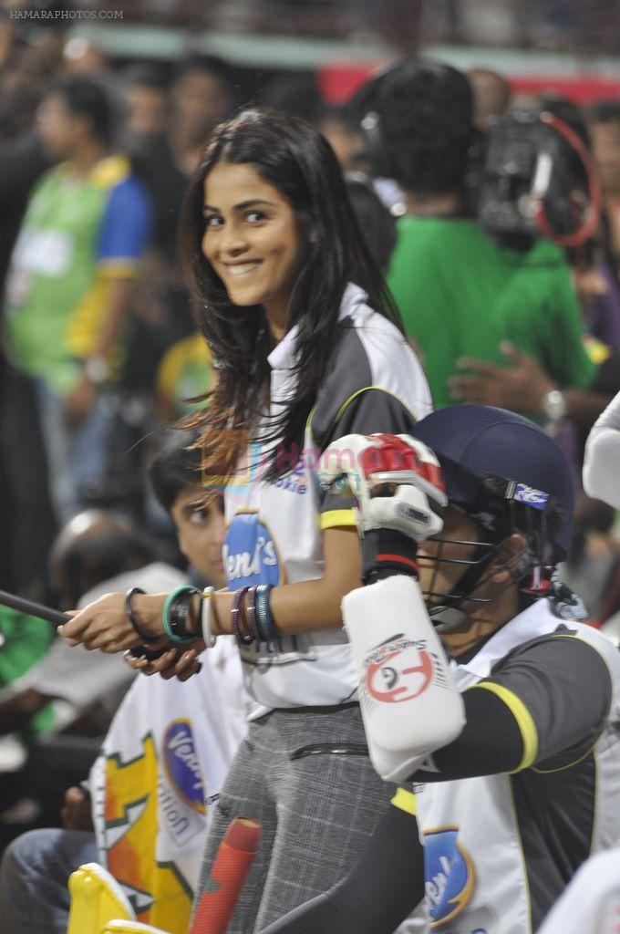 Genelia D Souza snapped at CCL match in Kochi on 23rd Jan 2012