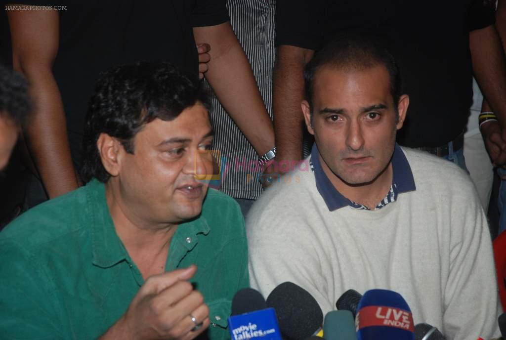 Akshaye Khanna, Rumi Jaffery at the Special screening of Gali Gali Chor Hai held for Anna Hazare in Mumbai on 25th Jan 2012