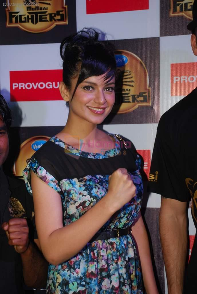 Kangna Ranaut at Venky's Mumbai Fighters and Bangkok Elephants match in Inorbit Mall, Mumbai on 3rd Feb 2012