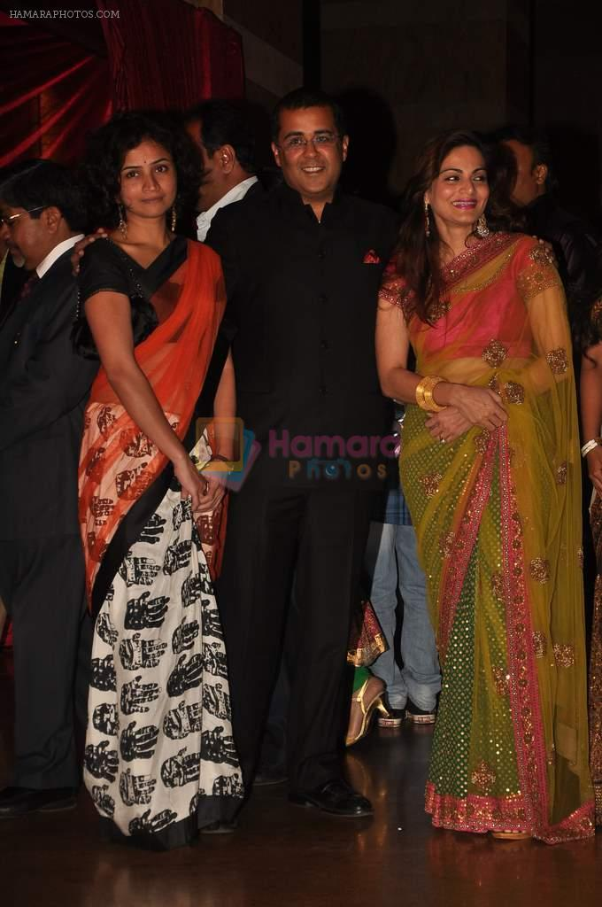 Chetan Bhagat Alvita Khan At Genelia Dsouza And Ritesh Deshmukh Wedding Reception In Hotel