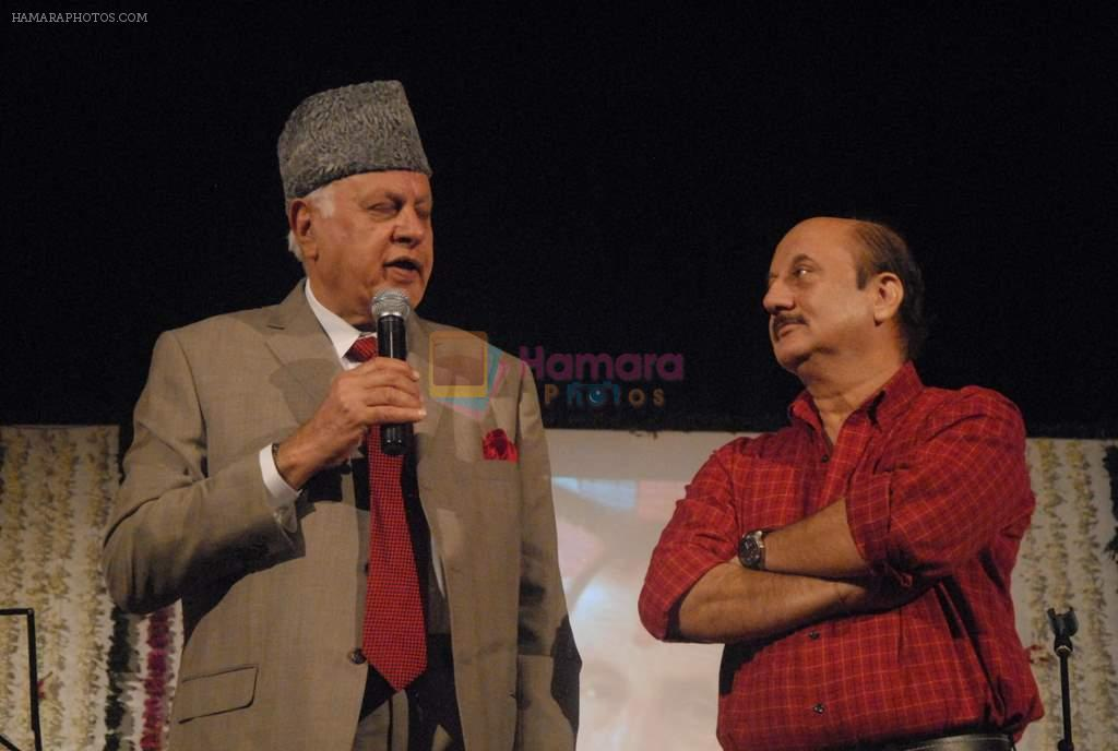 Anupam Kher at Anupam Kher's father prayer meet in Isckon, Mumbai on 13th Feb 2012