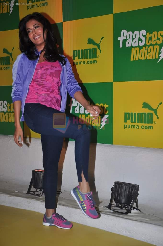 Chitrangada Singh at Chitrangada Singh bash to announce the brand ambassador for Puma in Olive, mumbai on 21st Feb 2012