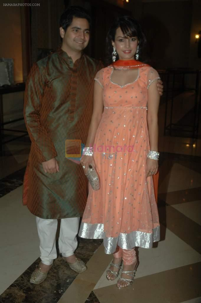Karan Mehra, Nisha Rawal at Vikas Kalantri wedding sangeet in J W Marriott on 22nd Feb 2012