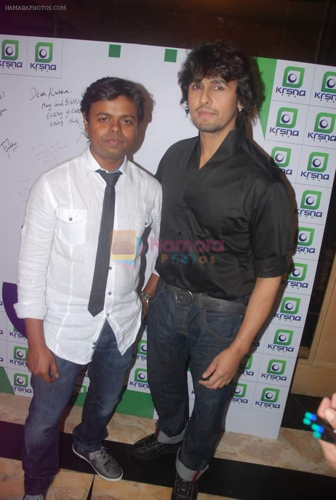 Sonu Nigam at singer Krsna party in Sea Princess on 27th Feb 2012