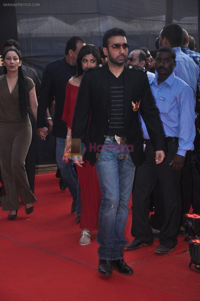 Shilpa Shetty, Raj Kundra at SFL mumbai Finale in Andheri Sports Complex, Mumbai on 11th March 2012