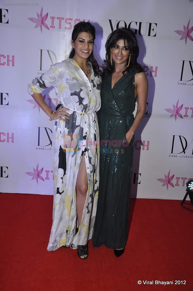Jacqueline Fernandez, Chitrangada Singh at DVF-Vogue dinner in Mumbai on 22nd March 2012