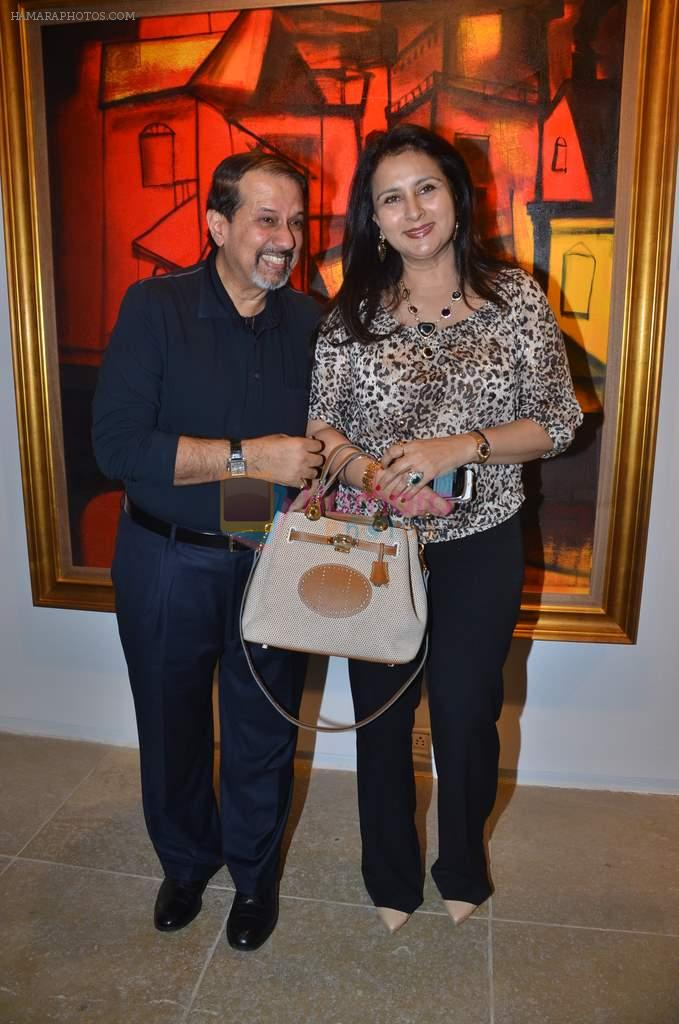 vikram sethi with poonam dhillon at Paresh Maity art event in ICIA on 22nd March 2012