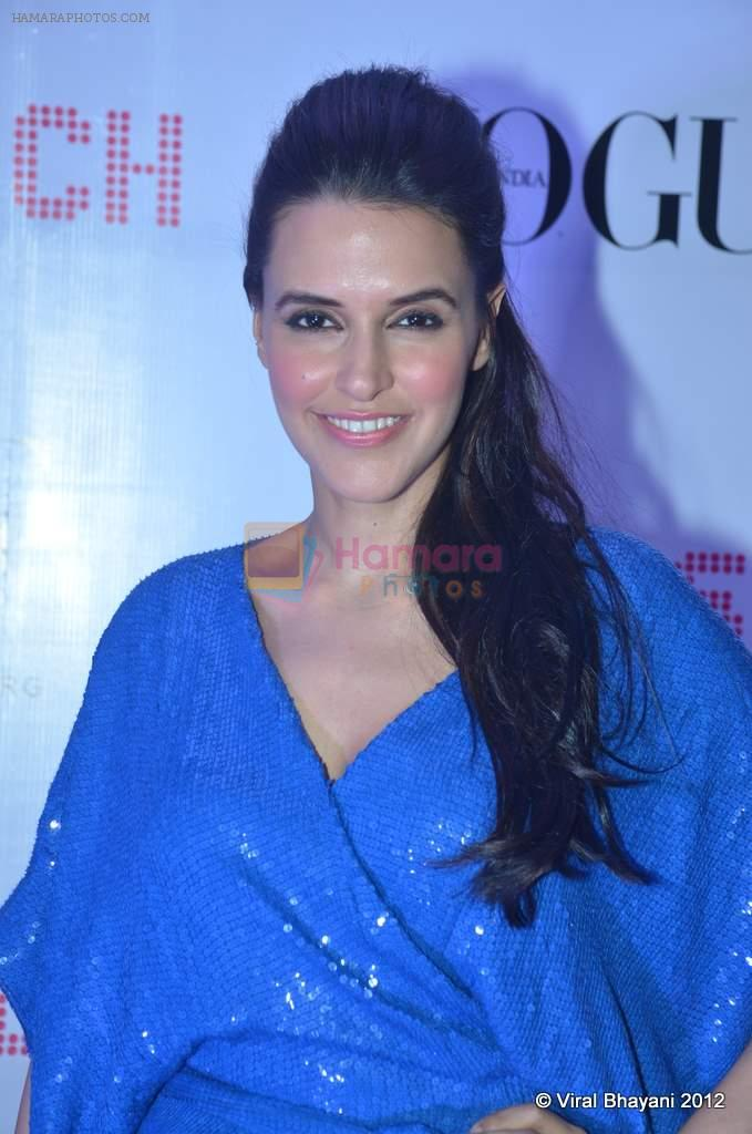 Neha Dhupia at DVF-Vogue dinner in Mumbai on 22nd March 2012