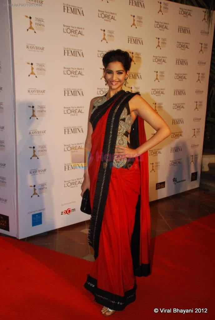 Sonam Kapoor at Loreal Femina Women Awards in Mumbai on 22nd March 2012