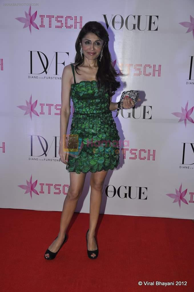 Queenie Dhody at DVF-Vogue dinner in Mumbai on 22nd March 2012