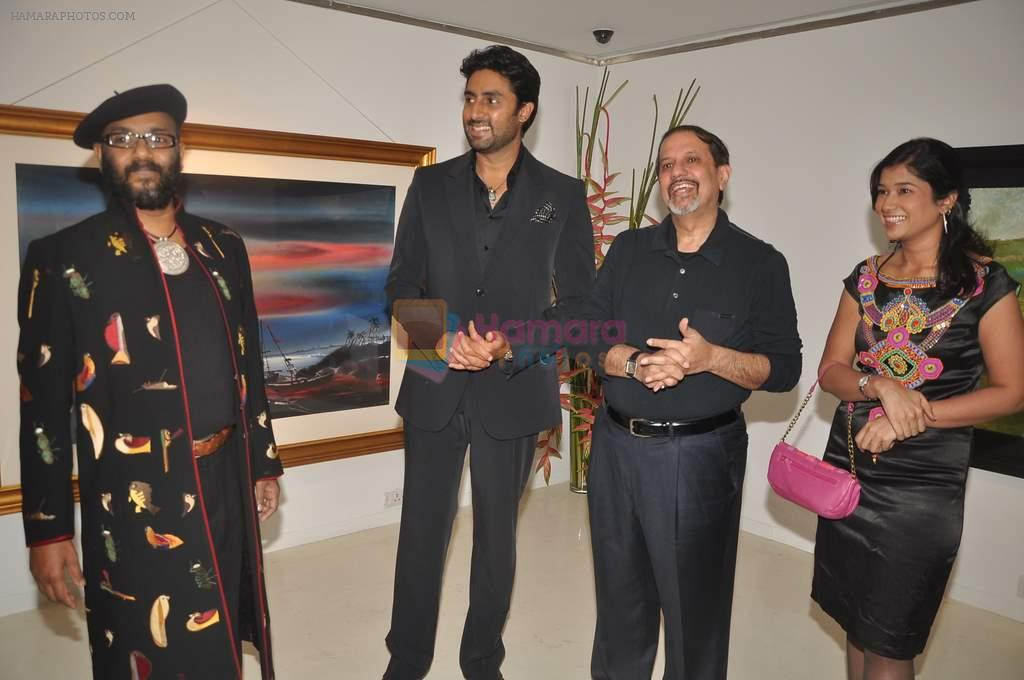 Abhishek Bachchan at Paresh Maity art event in ICIA on 22nd March 2012