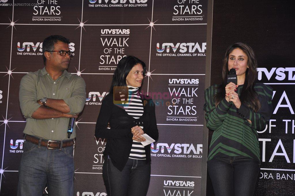Kareena Kapoor, Randhir Kapoor unveil UTVstars Walk of the Stars in Taj Land's End, Mumbai on 28th March 2012