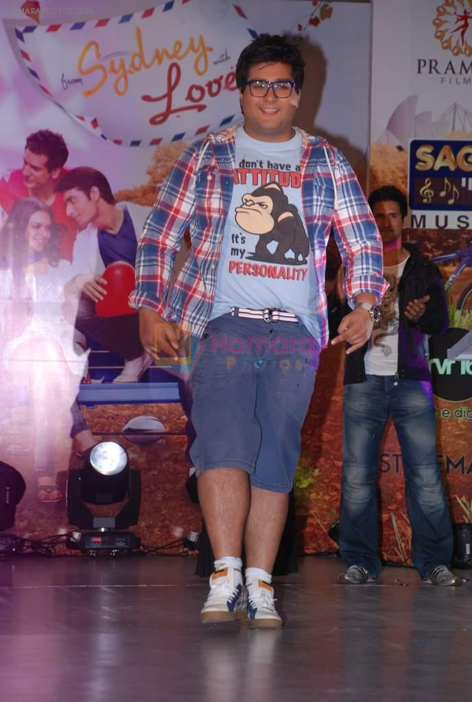 Prateek Chakravorty at the music launch of Sydney with Love in Juhu, Mumbai on 28th June 2012