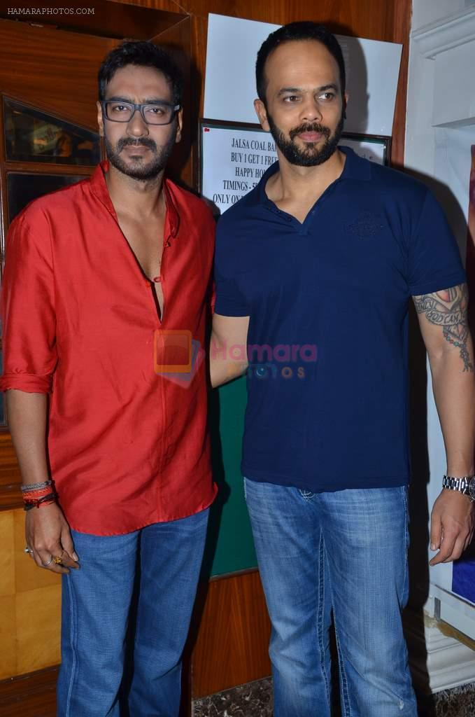Rohit Shetty, Ajay Devgan promote film Bol Bachchan on the sets of Taarak Mehta Ka Ooltah Chashmah in Andheri, Mumbai on 28th June 2012