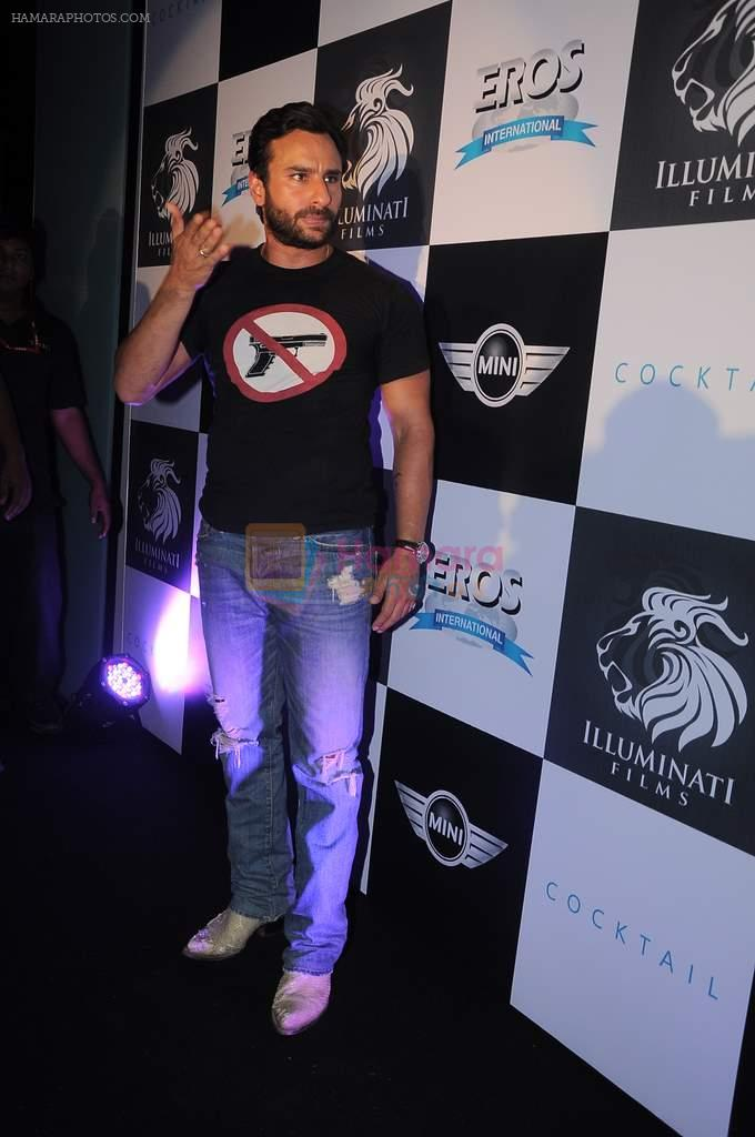 Saif Ali Khan at the Cocktail bash in Santacruz, Mumbai on 6th July 2012