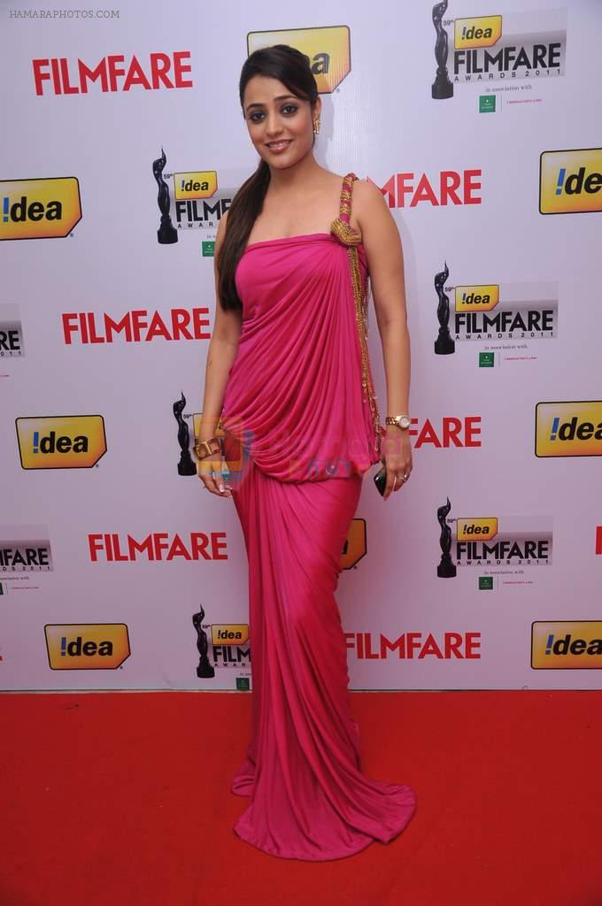Nisha at the Red Carpet of _59th !dea Filmfare Awards 2011_
