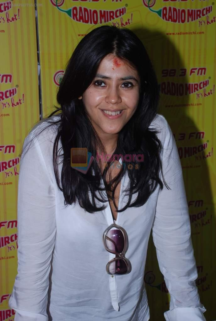 Ekta Kapoor at Radio Mirchi in Mumbai on 9th July 2012