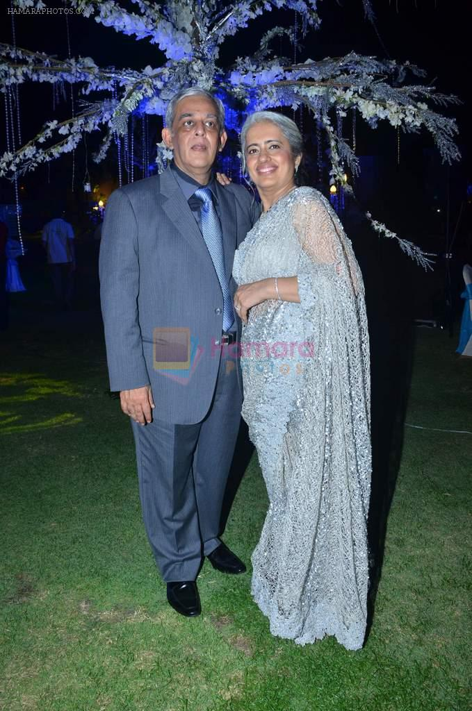 Narender and Veena panjwani at Varun and Michelle's wedding in Banyan Golf Club, Thailand on 9th July 2012