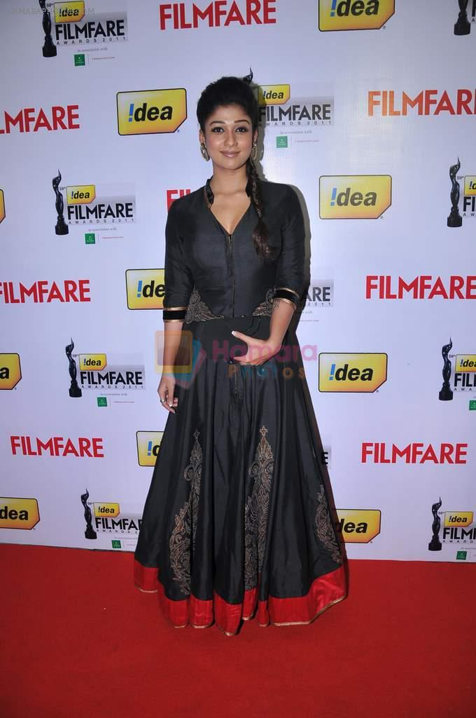 Nayantara received The Best Actress Award- Telugu (FEMALE) for the movie 'sri Rama Rajyam_ at the _59th !dea Filmfare Awards 2011_