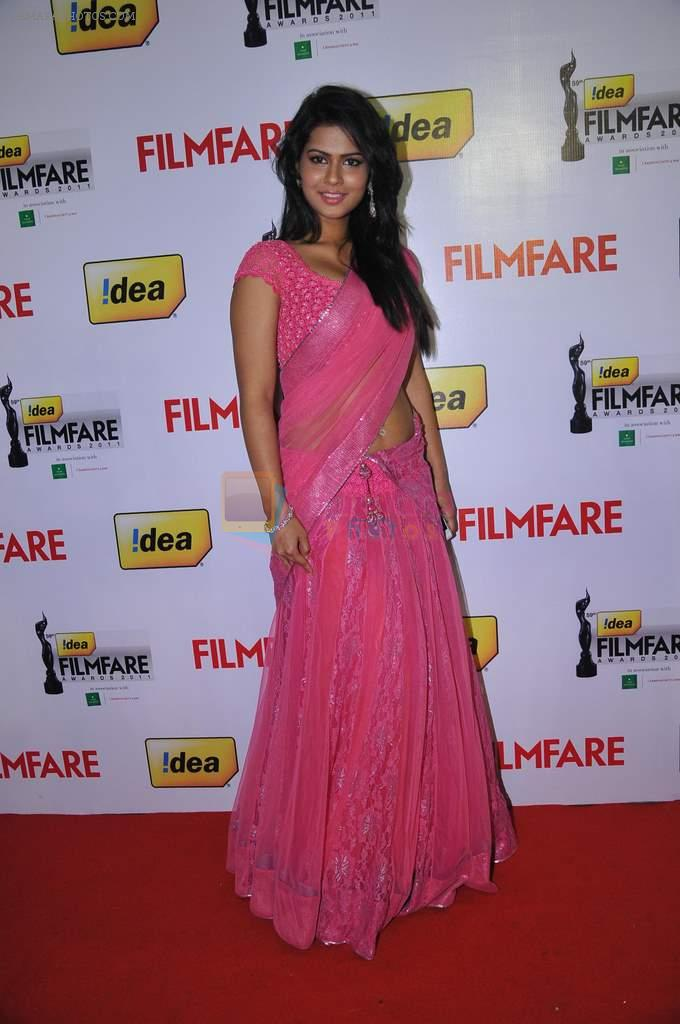 Sarmila Mandre (Telugu Actress) at the Red Carpet of _59th !dea Filmfare Awards 2011_