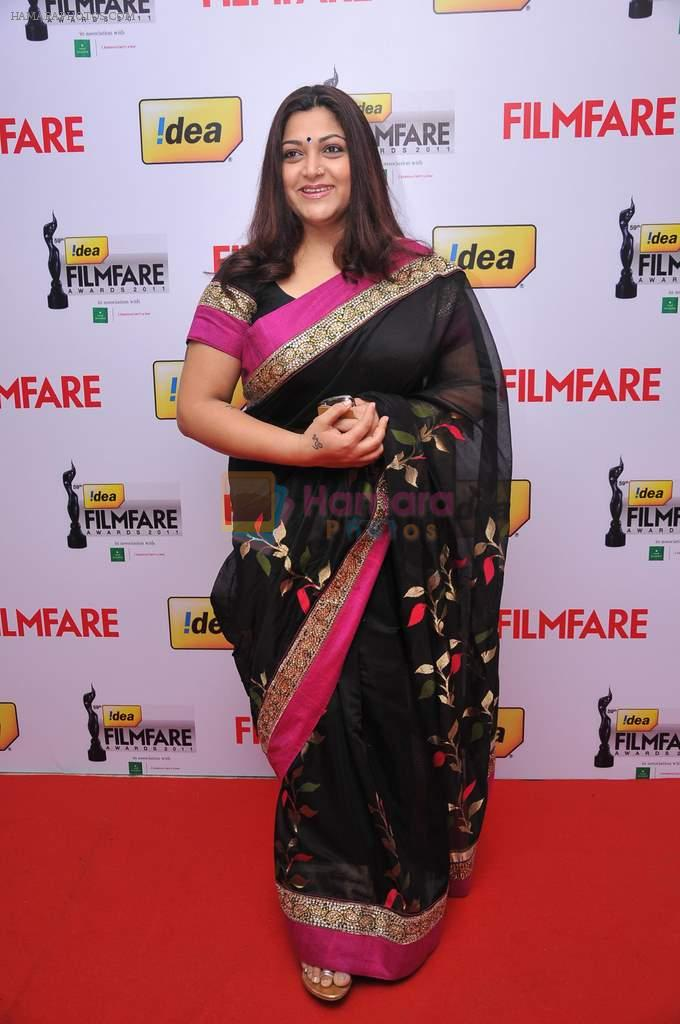 Kushboo (Actress) at the Red Carpet of _59th !dea Filmfare Awards 2011_
