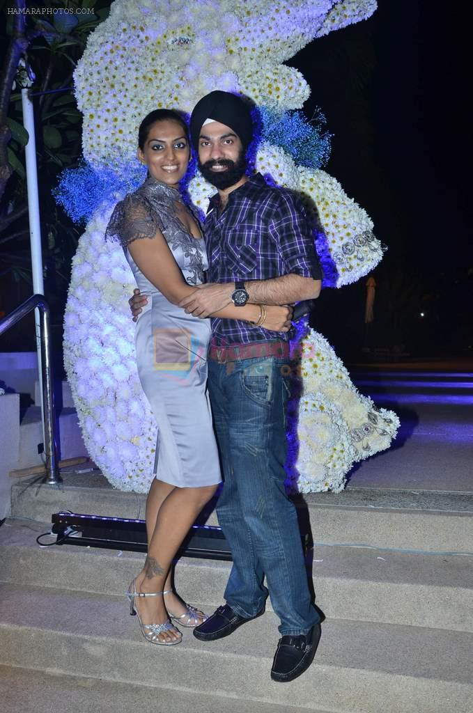A D Singh at Varun and Michelle's wedding in Banyan Golf Club, Thailand on 9th July 2012