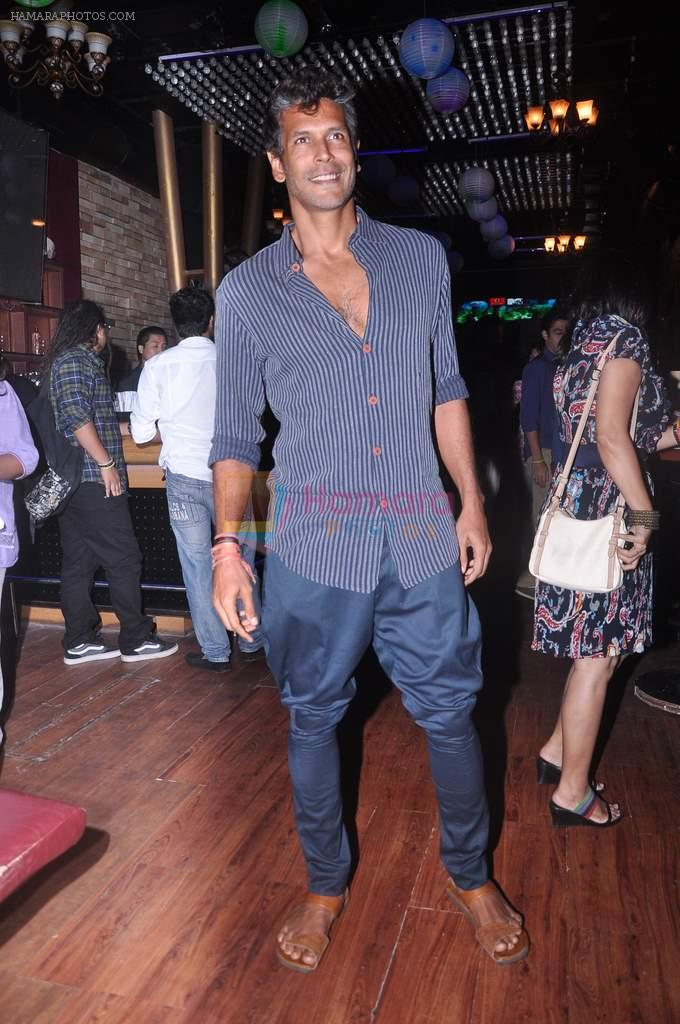Milind Soman at MTV Rush press meet in Red Ant Cafe, Mumbai on 10th July 2012