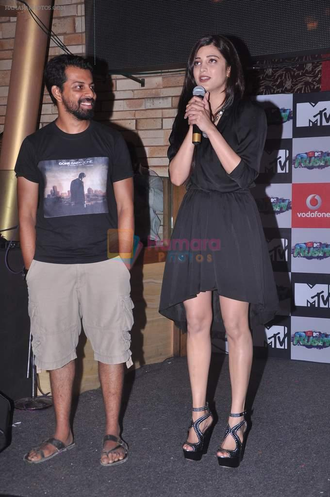 Shruti Hassan at MTV Rush press meet in Red Ant Cafe, Mumbai on 10th July 2012