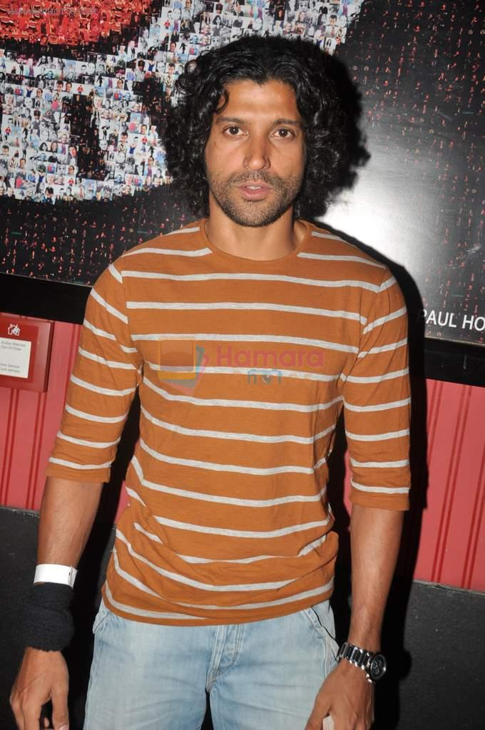Farhan Akhtar at Ash Chandler's play premiere in Comedy Store, Mumbai on 11th July 2012