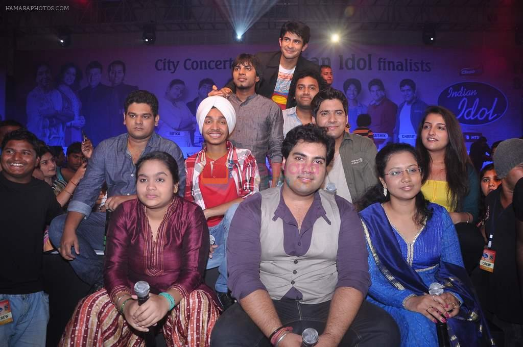 at Indian Idol concert in Pune on 12th July 2012