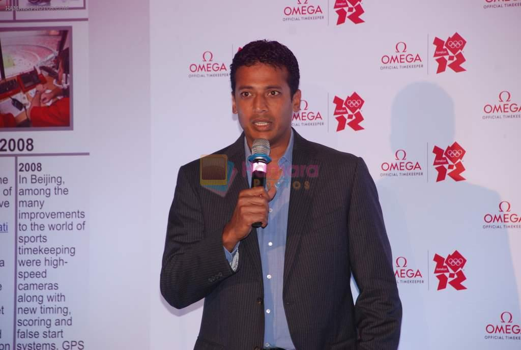 Mahesh Bhupathi at Omega Olympics event in Grand Hyatt, Mumbai on 12th July 2012
