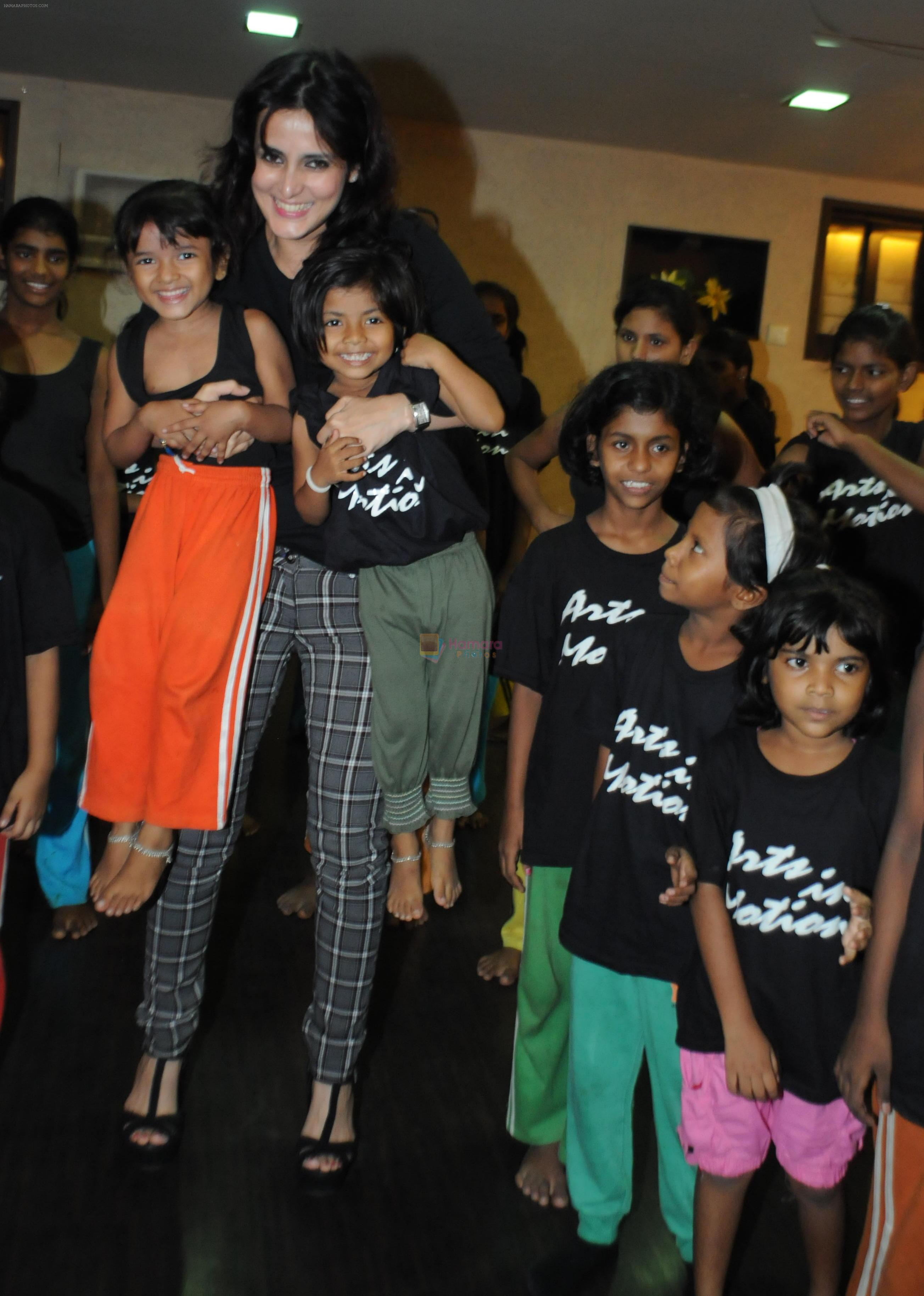 Tulip joshi meets and greets the special girl children at arts in tulip joshi meets and greets the special girl children at arts in motions dance with joy on 20th july 2012 m4hsunfo
