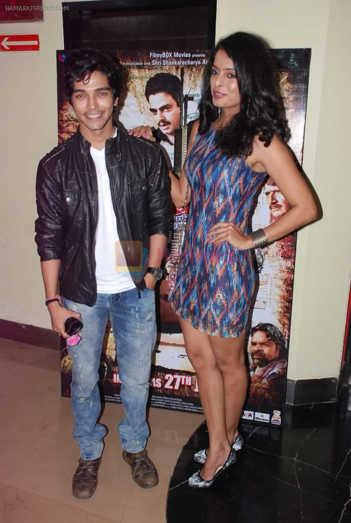 Harsh Rajput, Ruhi Chaturvedi promote the movie Aalap in Mumbai on 25th July 2012