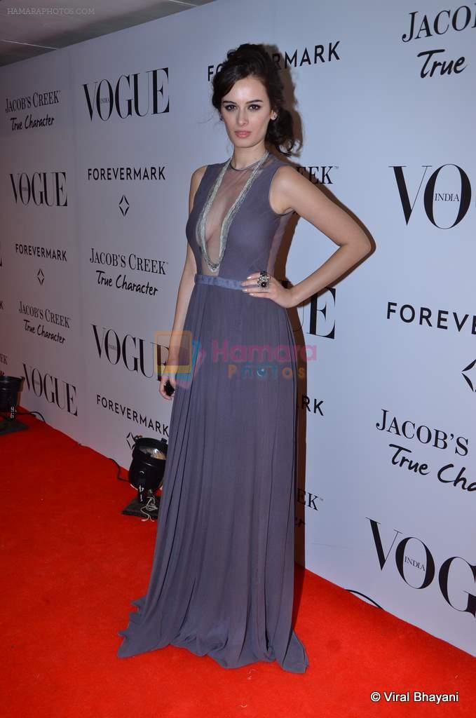 Evelyn Sharma at Vogue's 5th Anniversary bash in Trident, Mumbai on 22nd Sept 2012